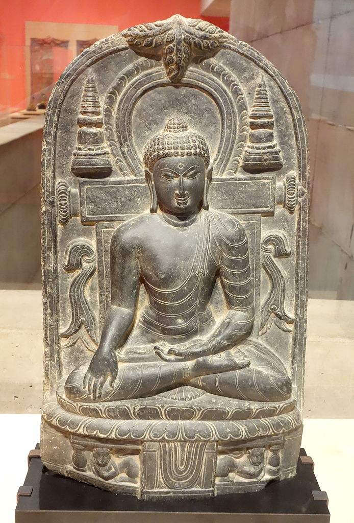 File Buddha India Pala Period 11th Century Black Stone