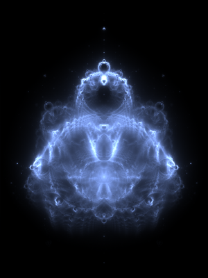 Buddhabrot - A Buddhabrot iterated to 20,000 times.