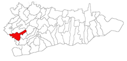 Location of Budeşti