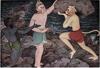 Hindu views on evolution - The Hindu epics mention an ape-like humanoid species called the vanaras.