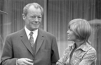 Romy Schneider - Schneider and German Chancellor Willy Brandt, 1971