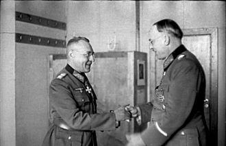 Karl Weisenberger - Weisenberger (left) with Lothar Rendulic.