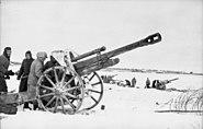 Bundesarchiv Bild 101I-277-0847-11, Russland, leichte Feldhaubitze in Feuerstellung