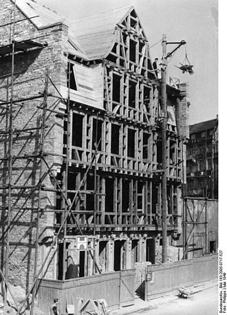 Goethe House - Goethe House construction in May 1949
