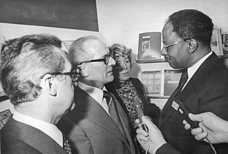 Dave Bolen - Ambassador Bolen (R) with General Secretary Erich Honecker (L), March 1978