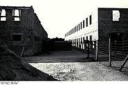 Bundesarchiv Bild 192-147, KZ Mauthausen, Aufbau von Häftlingsbaracken
