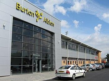 English: Burton Albion FC, Pirelli Stadium, Bu...
