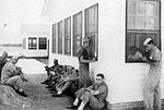 Bush Field - Aviation Cadets wiating at Operations Building.jpg