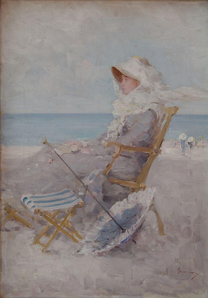 Au bord de la mer, Nicolae Grigorescu (1881-1882)  (définition réelle 2031×2913)