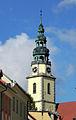 Bystrzyca Kłodzka, kościół św. Michała Archanioła, wieża.JPG