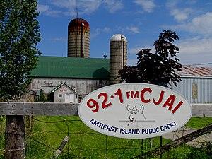 Public broadcasting - Amherst Island public radio