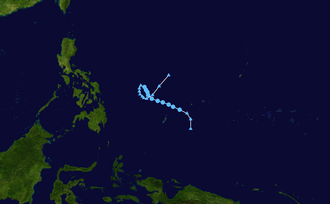 1968 Pacific typhoon season - Image: CMA TD 01 1968 track