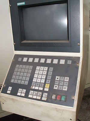 History of numerical control - Siemens CNC panel.