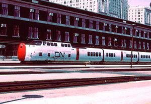 UAC TurboTrain - CN TurboTrain in Toronto