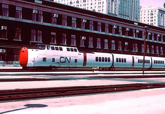 LRC (train) - CN Turbo in Toronto in 1975.