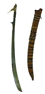 COLLECTIE TROPENMUSEUM Zwaard met gevest van been en schede TMnr A-3001.jpg