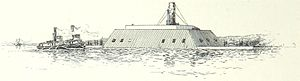 CSS Louisiana - Image: CSS Louisiana en route