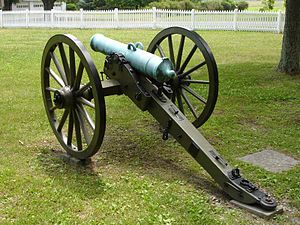 Field artillery in the American Civil War - 24-pounder Howitzer of Austrian manufacture imported by the Confederacy. Its tube was shorter and lighter than Federal 24-pounder Howitzers.