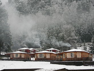 Climate of Chile - Maritime influence makes some southern Andean valleys prone to snowfalls in winter such as in Curarrehue in the picture.