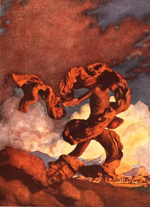 Maxfield Parrish - Cadmus Sowing the Dragon's Teeth (1908), created for Collier's