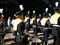 Cal Band en route to Memorial Stadium for 2008 Big Game 01.JPG