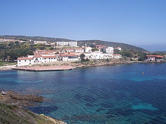 Asinara - Cala d'Oliva, first village at the time of the prison.
