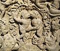 Cambogia, architrave con storie di rama, lakasmana, sugriva e valin, da vat baset, stile di baphuon, xi sec. 04.JPG