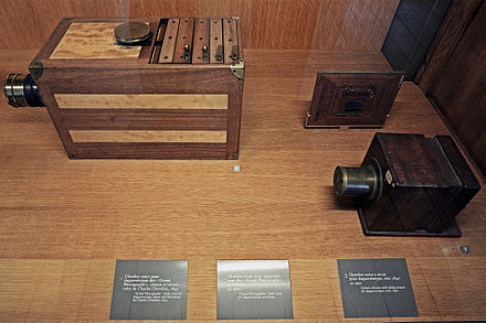 "Cameras obscura for Daguerreotype called ""Grand Photographe"" produced by Charles Chevalier (Musee des Arts et Metiers). Camerae-obscurae.jpg"