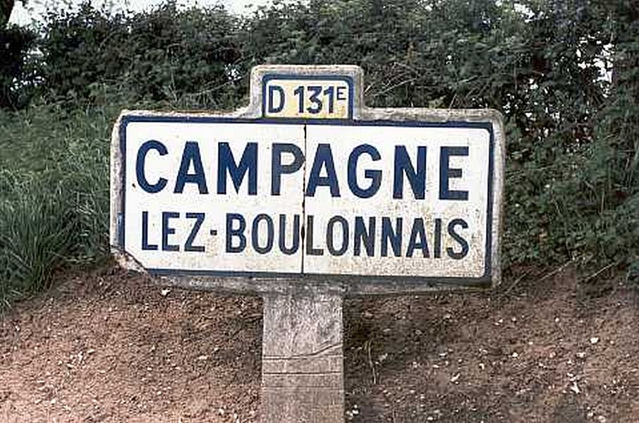 Entrée de CAMPAGNE LES (LEZ) BOULONNAIS route de Bourthes