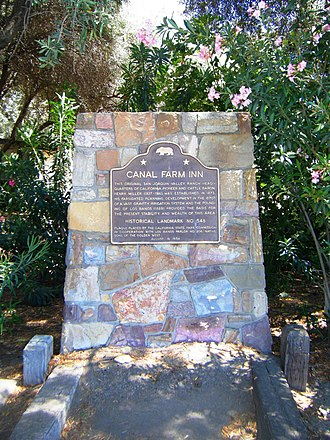 California Historical Landmarks in Merced County - Image: Canal Farm Inn
