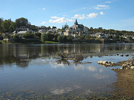 Candes-Saint-Martin, view over the Loire.