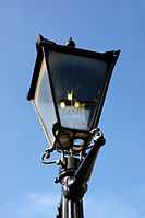 A Victorian gas light