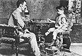 Capablanca jogando com o seu pai.jpg