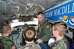 Capt. Brandon Gillet answers questions from CAP cadets in Florida.JPG