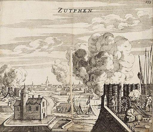 Capture of Zutphen by Maurice of Orange in 1591 - Verovering van Zutphen door Prins Maurits in 1591 (Johannes Janssonius, 1663)