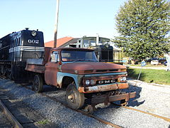 A 1966 Gmc K1500 Converted For Railroad Service In Pennsylvania