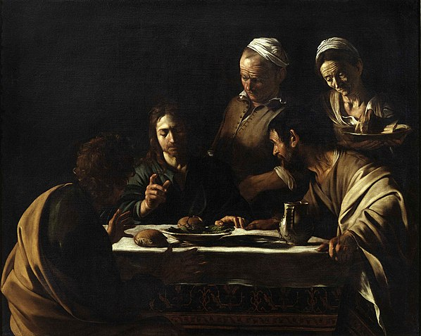 Supper at Emmaus, Caravaggio, 1606