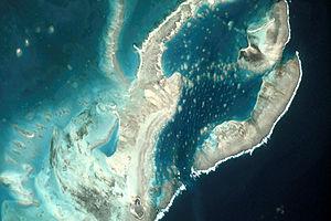 St. Brandon - Satellite image of Cargados Carajos