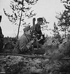 Carl Gustaf Emil Mannerheim watches operations in the Leningrad sector.jpg