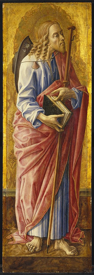 Carlo Crivelli - Image: Carlo Crivelli Saint James Major, part of an altarpiece Google Art Project