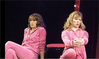 Carol Smillie - Smillie performing with Shonagh Price in Hormonal Housewives, 2010