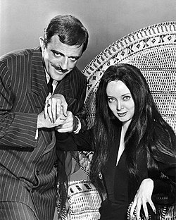 Carolyn Jones John Astin The Addams Family 1964