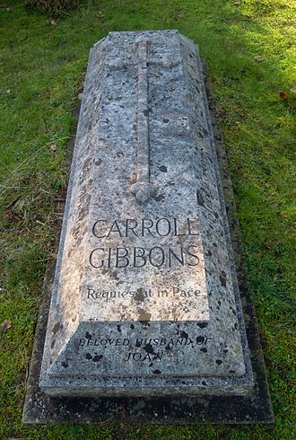 Carroll Gibbons - Gibbons' grave in Brookwood Cemetery
