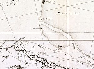 Placer (geography) - The Placer de los Roques marked as Pracel in a 1762 French map.