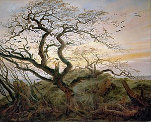 What year did the louvre obtain casper david friedrich tree with ravens