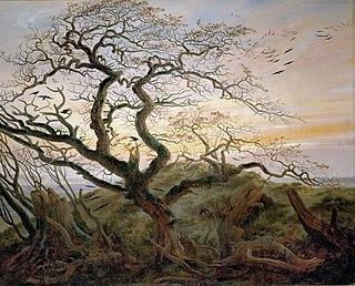 <i>The Tree of Crows</i> painting by Caspar David Friedrich