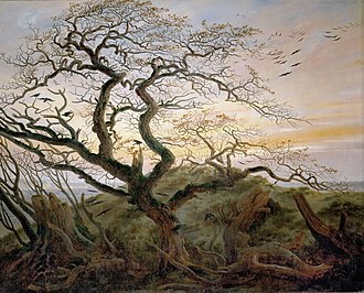 Woman with a Raven at an Abyss - Caspar David Friedrich, The Tree of Crows, c 1822. Musée du Louvre