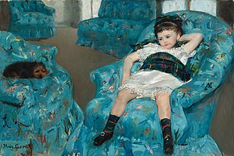 Little Girl in a Blue Armchair - Image: Cassat Blue Armchair NGA