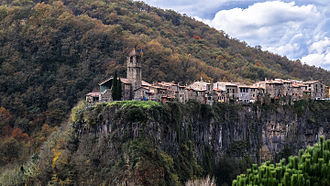 Battle of Sant Esteve d'en Bas - View of Castellfollit de la Roca in 2014