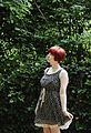 Cat Print Dress and a Red Pixie Cut.jpg